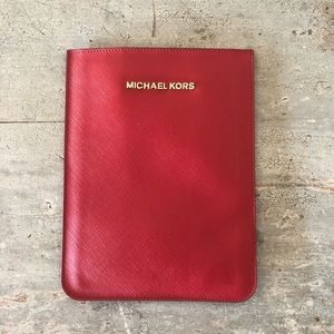 ♥️ Michael Kors ♥️ Red Leather Notebook Sleeve
